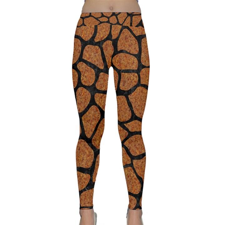 SKIN1 BLACK MARBLE & RUSTED METAL (R) Classic Yoga Leggings