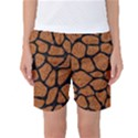 SKIN1 BLACK MARBLE & RUSTED METAL (R) Women s Basketball Shorts View1