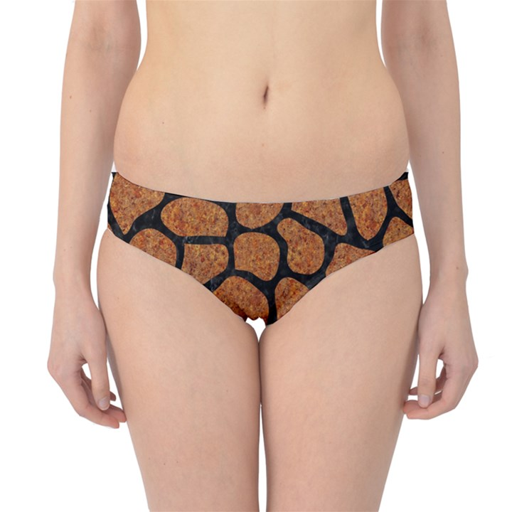 SKIN1 BLACK MARBLE & RUSTED METAL (R) Hipster Bikini Bottoms