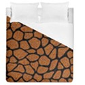 SKIN1 BLACK MARBLE & RUSTED METAL (R) Duvet Cover (Queen Size) View1