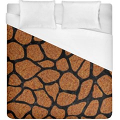 Skin1 Black Marble & Rusted Metal (r) Duvet Cover (king Size)