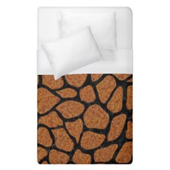 Skin1 Black Marble & Rusted Metal (r) Duvet Cover (single Size)