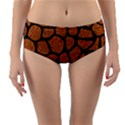 SKIN1 BLACK MARBLE & RUSTED METAL (R) Reversible Mid-Waist Bikini Bottoms View1