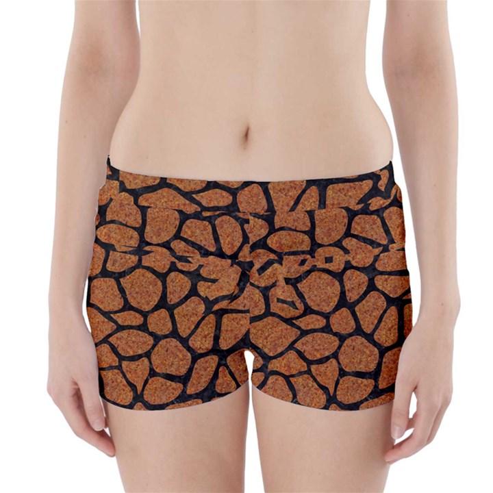 SKIN1 BLACK MARBLE & RUSTED METAL (R) Boyleg Bikini Wrap Bottoms