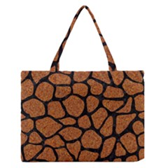Skin1 Black Marble & Rusted Metal (r) Zipper Medium Tote Bag