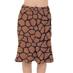 Skin1 Black Marble & Rusted Metal (r) Mermaid Skirt