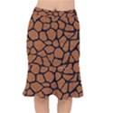 SKIN1 BLACK MARBLE & RUSTED METAL (R) Mermaid Skirt View1