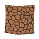 SKIN1 BLACK MARBLE & RUSTED METAL (R) Square Tapestry (Small) View1