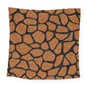 SKIN1 BLACK MARBLE & RUSTED METAL (R) Square Tapestry (Large) View1