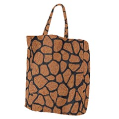 Skin1 Black Marble & Rusted Metal (r) Giant Grocery Zipper Tote