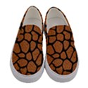 SKIN1 BLACK MARBLE & RUSTED METAL (R) Women s Canvas Slip Ons View1