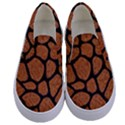 SKIN1 BLACK MARBLE & RUSTED METAL (R) Kids  Canvas Slip Ons View1