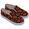 SKIN1 BLACK MARBLE & RUSTED METAL (R) Kids  Canvas Slip Ons View3