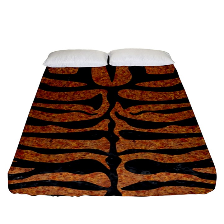 SKIN2 BLACK MARBLE & RUSTED METAL Fitted Sheet (King Size)