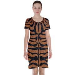 Skin2 Black Marble & Rusted Metal Short Sleeve Nightdress