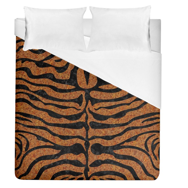 SKIN2 BLACK MARBLE & RUSTED METAL Duvet Cover (Queen Size)