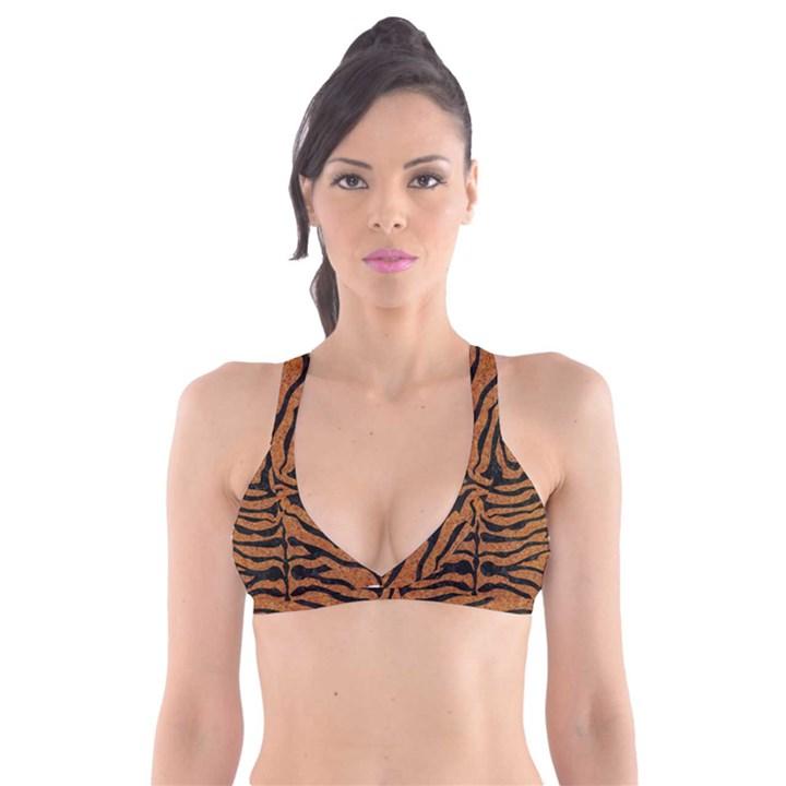SKIN2 BLACK MARBLE & RUSTED METAL Plunge Bikini Top