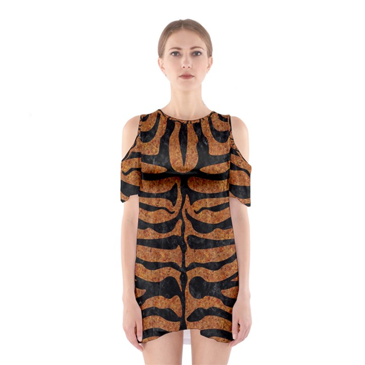 SKIN2 BLACK MARBLE & RUSTED METAL Shoulder Cutout One Piece
