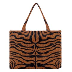 Skin2 Black Marble & Rusted Metal Medium Tote Bag