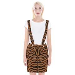 Skin2 Black Marble & Rusted Metal Braces Suspender Skirt