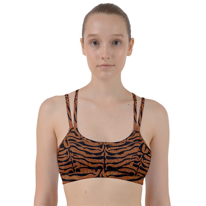 SKIN2 BLACK MARBLE & RUSTED METAL Line Them Up Sports Bra