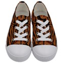SKIN2 BLACK MARBLE & RUSTED METAL Kids  Low Top Canvas Sneakers View1