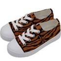 SKIN2 BLACK MARBLE & RUSTED METAL Kids  Low Top Canvas Sneakers View2