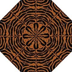 Skin2 Black Marble & Rusted Metal (r) Hook Handle Umbrellas (medium)