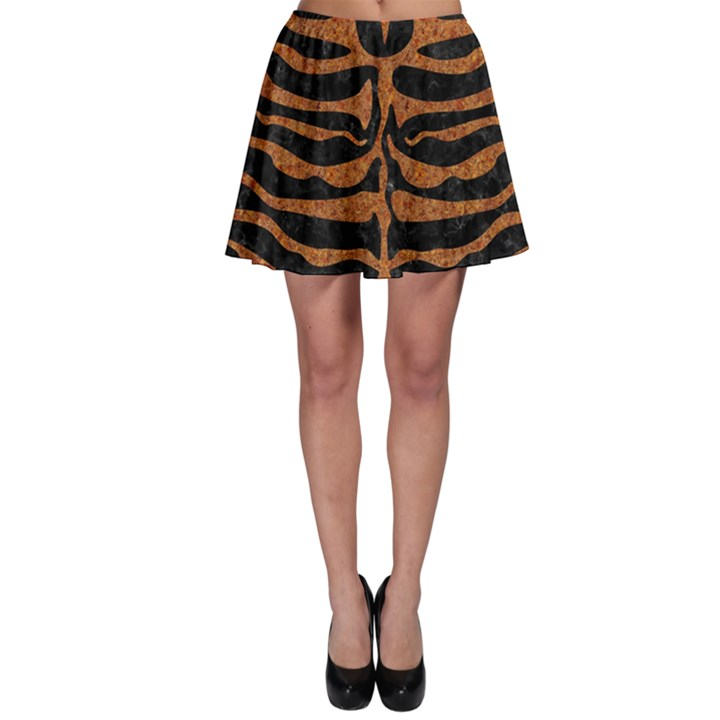 SKIN2 BLACK MARBLE & RUSTED METAL (R) Skater Skirt