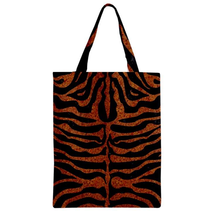 SKIN2 BLACK MARBLE & RUSTED METAL (R) Zipper Classic Tote Bag