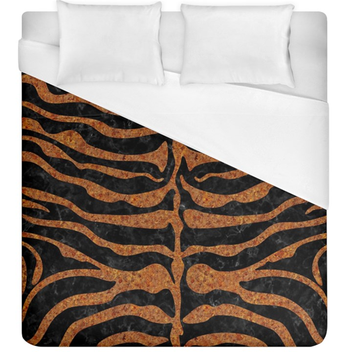 SKIN2 BLACK MARBLE & RUSTED METAL (R) Duvet Cover (King Size)