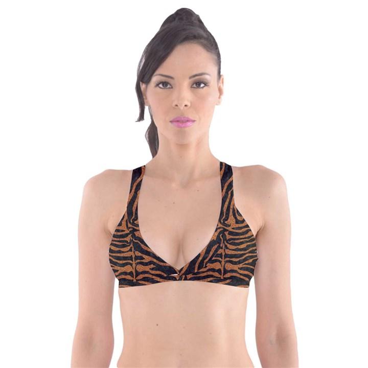 SKIN2 BLACK MARBLE & RUSTED METAL (R) Plunge Bikini Top