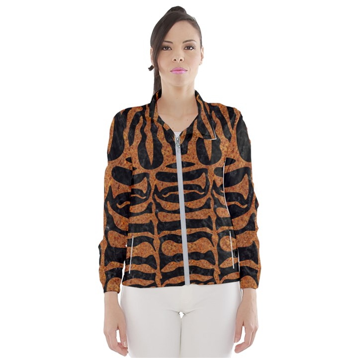SKIN2 BLACK MARBLE & RUSTED METAL (R) Wind Breaker (Women)