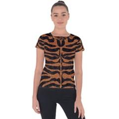 Skin2 Black Marble & Rusted Metal (r) Short Sleeve Sports Top
