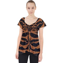 Skin2 Black Marble & Rusted Metal (r) Lace Front Dolly Top