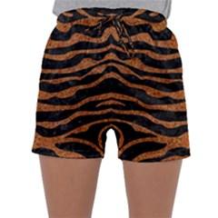 Skin2 Black Marble & Rusted Metal (r) Sleepwear Shorts
