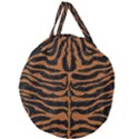 SKIN2 BLACK MARBLE & RUSTED METAL (R) Giant Round Zipper Tote View1