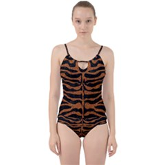 Skin2 Black Marble & Rusted Metal (r) Cut Out Top Tankini Set
