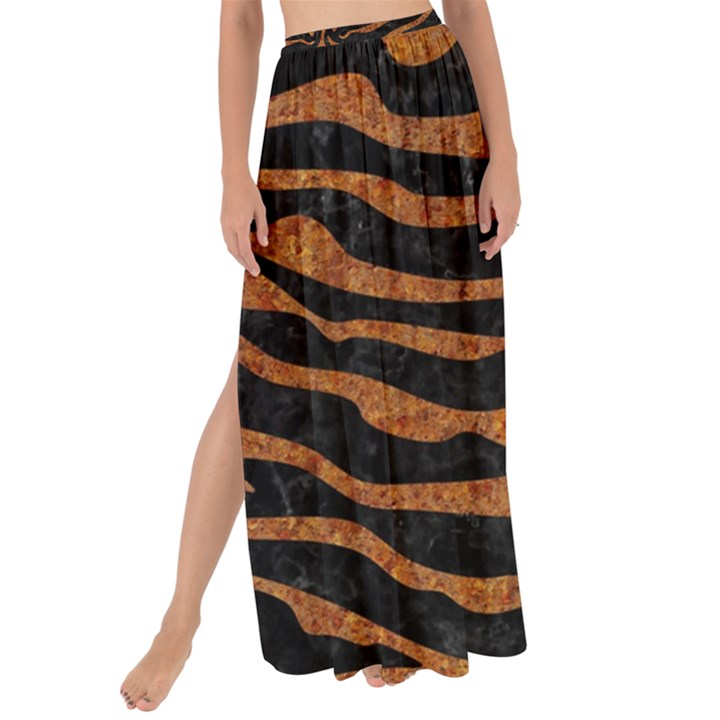SKIN2 BLACK MARBLE & RUSTED METAL (R) Maxi Chiffon Tie-Up Sarong