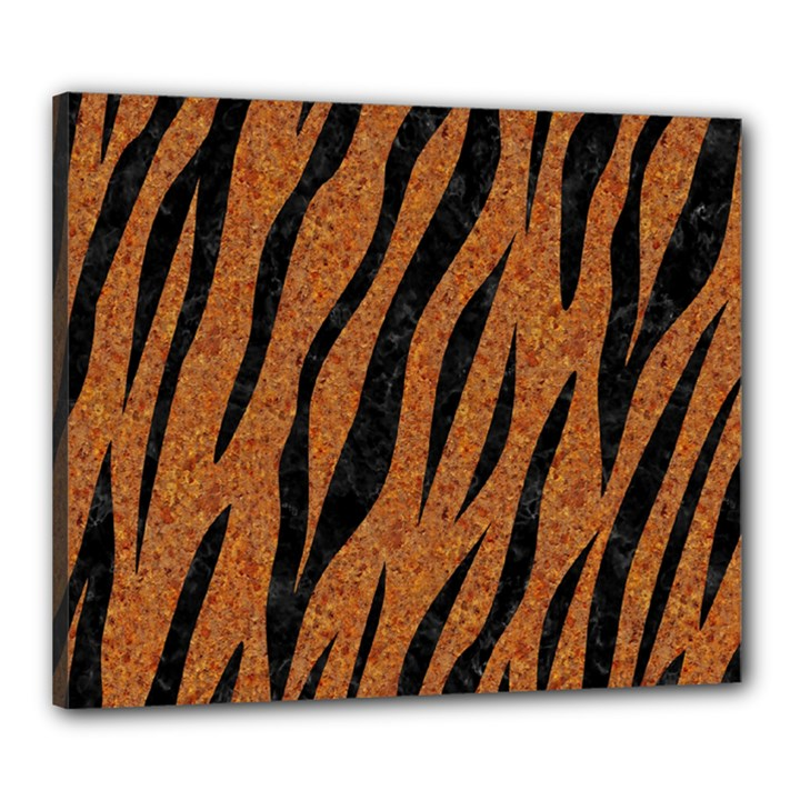 SKIN3 BLACK MARBLE & RUSTED METAL Canvas 24  x 20