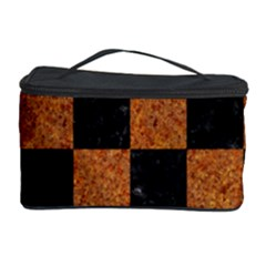 Square1 Black Marble & Rusted Metal Cosmetic Storage Case