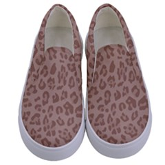 Autumn Animal Print 9 Kids  Canvas Slip Ons