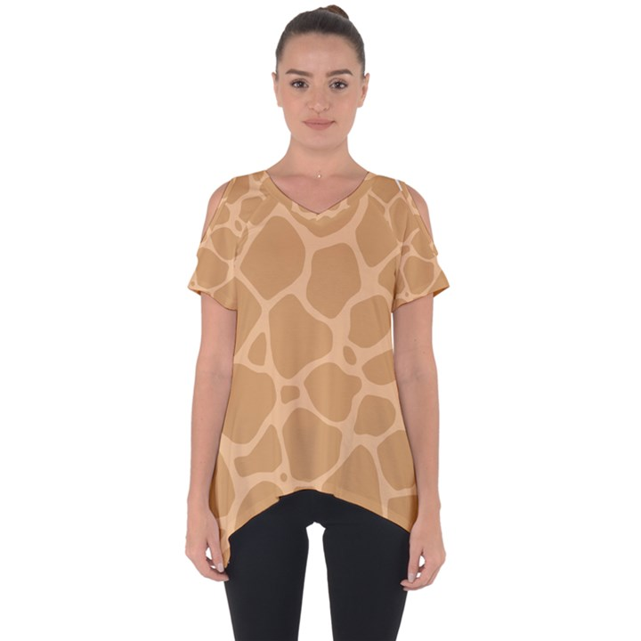 Autumn Animal Print 10 Cut Out Side Drop Tee