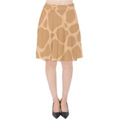 Autumn Animal Print 10 Velvet High Waist Skirt