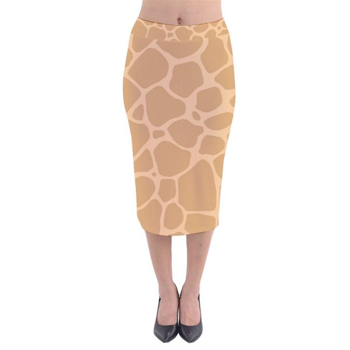 Autumn Animal Print 10 Velvet Midi Pencil Skirt