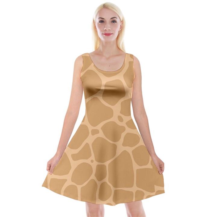Autumn Animal Print 10 Reversible Velvet Sleeveless Dress