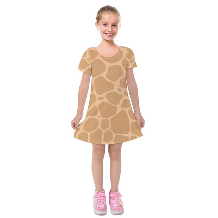 Autumn Animal Print 10 Kids  Short Sleeve Velvet Dress