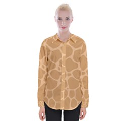 Autumn Animal Print 10 Womens Long Sleeve Shirt