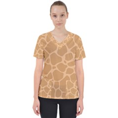 Autumn Animal Print 10 Scrub Top