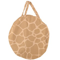 Autumn Animal Print 10 Giant Round Zipper Tote